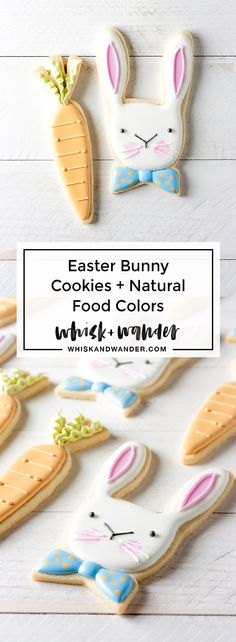 Easter bunny cookies colored with natural food coloring powders by ColorKitchen. Finally natural food colors that taste as good as they look! Spice Cookies, Yummy Cookies, Cake Cookies, Cupcake Cakes, Cupcakes, Natural Food Coloring, Coloring Easter Eggs, Easter Colors, Easter Cookies