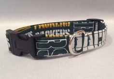 Packer Dog Collar by ALeashACollar on Etsy