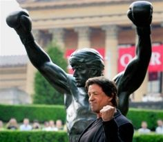 Sly and the infamous Rocky Balboa statue in Philadelphia! Yo Adrian!!!