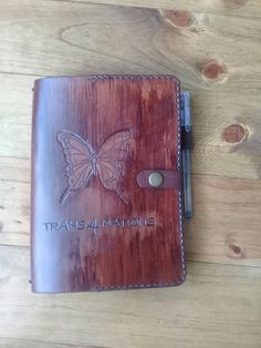 Custom made Leather Journal  #leather #leatherjournal  #travellersjournal  #leathernotebook #invictusleather  Visit is at: www.facebook.com/invictusleather