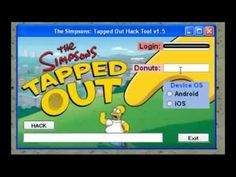 Simpsons Tapped Out donut Hack Tool [ August ] 2013