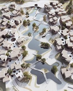 A masterplan for a 'Handcraft Art Village'  I Architecture inspiration via @chrisprecht_penda