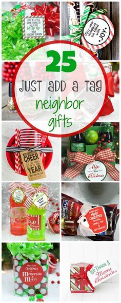 Easy Neighbor Gifts: Just Add a Tag What cute and easy Christmas gift ideas! Just add a Tag Neighbor Gifts.What cute and easy Christmas gift ideas! Just add a Tag Neighbor Gifts. Christmas Pops, Christmas Gifts For Coworkers, Family Christmas Gifts, Homemade Christmas Gifts, Christmas Holidays, Christmas Crafts, Christmas Tree, Christmas Quotes, Christmas Movies