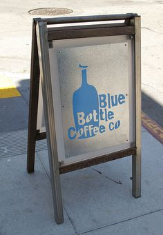 Blue Bottle Coffee, Booth Seating, Community Boards, Signage, Magazine Rack, Container, Mint, Insight, San Francisco