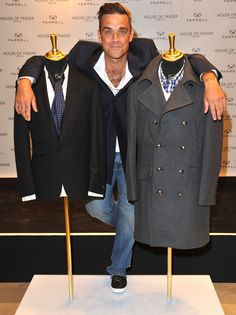 Robbie Williams presented his new fashion label Farrell.