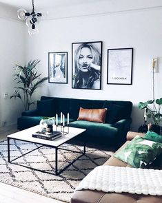 Grab some green accents for cute living room ideas with an urban oasis in mind. Grab some green accents for cute living room ideas with an urban oasis in mind. Cute Living Room, Small Living Rooms, Living Room Designs, Cozy Living, Simple Living, Living Room On A Budget, Living Spaces, Living Room Decor College, Living Room Decor Simple