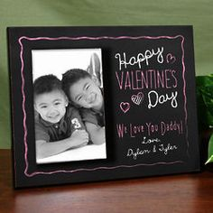 Personalized Happy Valentine's Day Printed Frame
