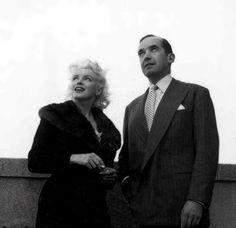 Marilyn with broadcast journalist Edward R. Murrow during discussions at the Ambassador Hotel regarding Marilyn's forthcoming Person to Person interview. Photo by Milton Greene, April 1, 1955.