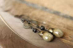 Rustic Earrings In Shades of Warm And Cool by SparrowtaleStudio, $35.00