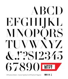 Behance :: Editing WTF Di(dot) Custom Typeface by Letterhead Letterhead, Magazines, Fonts, Typography, Behance, Type, Studio, Kids, Journals