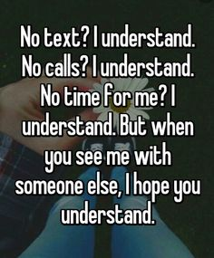 I hope YOU understand. Tired of feeling unappreciated in a one sided relationship.