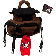 Marshall Pet Hanging Pirate Ship Hangout For Ferrets