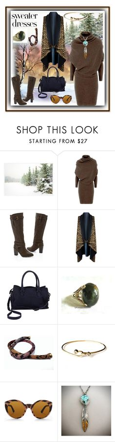 Love My Sweater Dresses by sylvia-cameojewels on Polyvore featuring Lanvin, Venus, Diane Von Furstenberg, Keum, Ralph Lauren, Pottery Barn, contestentry, polyvorecontest, sweaterdresses and polyvorefashion