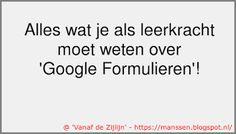 Google Formulieren nuttig inzetten in het onderwijs.