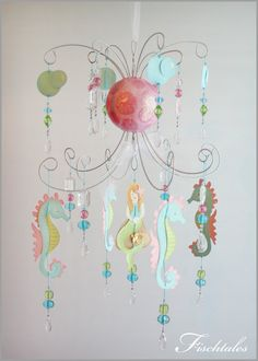 Mermaid Chandelier Mobile. $155.00, via Etsy.