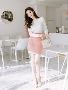 Korean Girl Fashion, Cute Asian Fashion, Korean Fashion Casual, Korean Fashion Trends, Ulzzang Fashion, Boho Fashion, Fashion Outfits, Korean Skirt Outfits, Skirt And Top Outfit