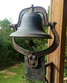 RARE 62 Antique Cast Iron Bell//antique dinner by JunctionARow, $400.00