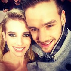 Emma Roberts Takes Selfies With One Direction Members At The AMAs
