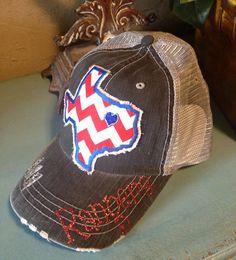 Texas Rangers State Baseball Bling Ladies Womens Trucker Hat on Etsy, $36.00