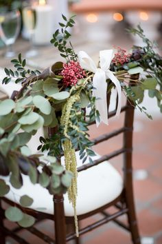 #chair-decor, #chair  Photography: Michael & Anna Costa Photography ~ Anna Costa - michaelandannacosta.com  Read More: http://www.stylemepretty.com/2014/09/15/california-al-fresco-affair-with-a-secret-garden-vibe/