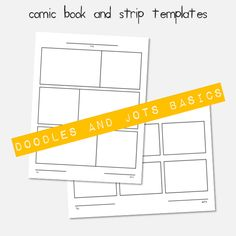 printable comic templates