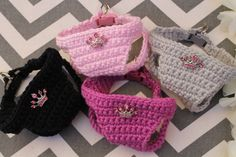 Puppy Harness, Tiny Teacup Princess Dog Vest w/Tiara, 2 to 3 Lbs XXS, Crochet Cotton Vest Dog Carrier Purse, Dog Purse, Yorkie Puppy, Chihuahua Puppies, Teacup Breeds, Tea Cup Poodle, Dog Vest, Cotton Vest, Puppy Sweaters