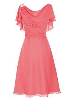 Dresstells® Short Prom Dress Cowl Bridesmaid Dress Chiffon Mother of Bride Dress Coral Size14 Dresstells http://www.amazon.com/dp/B013HUXIRQ/ref=cm_sw_r_pi_dp_UJRKwb1EP626X