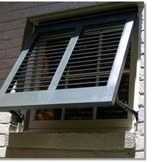 Shutter awnings yes please once we start on the exterior exterior pinterest see best for Exterior window shutter repair