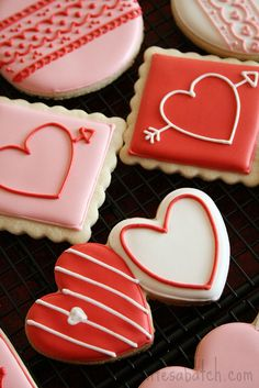 2012 Valentine Cookies. | Flickr - Photo Sharing! Love the double heart