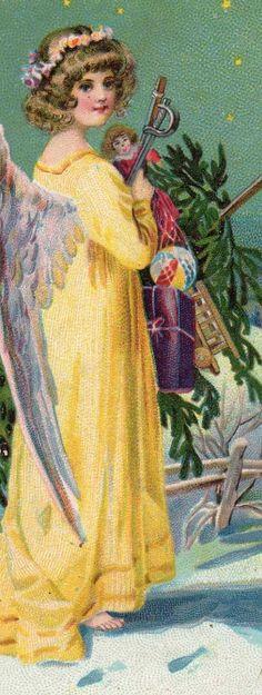 Angel deliverer of Christmas Cheer