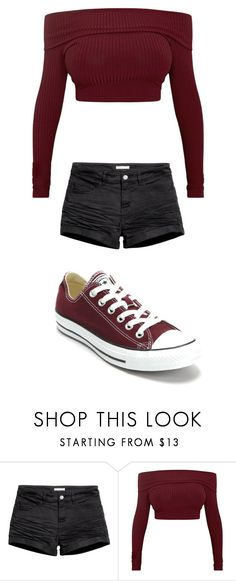 """""""Untitled #37"""" by rdeveau on Polyvore featuring H&M and Converse"""