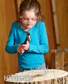 Required Tools for this Project - Have the necessary tools for this DIY project lined up - you'll save time and frustration. Cordless driver, Hand drill, Keyhole saw, Safety glasses You may also need a craft glue gun and child-size versions of standard hand tools. Required Materials for this Project Avoid last-minute shopping trips by having all your materials ready ahead of time. Here's a list. Foam core, Drywall, Scrap wood, Broken gadgets and appliances, Drywall screws, Roofing nails,