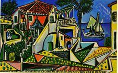 Les Femmes d'Alger   Mediterranean Landscape   Pablo Picasso