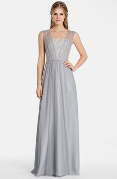 Jim Hjelm Occasions Metallic Lace & Net A-Line Gown