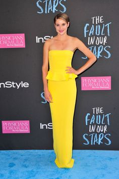 Pin for Later: There Is Zero Fault in Shailene Woodley's Red Carpet Résumé Shailene Woodley in Ralph Lauren Collection at The Fault in Our Stars 2014 NYC Premiere