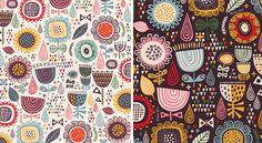Floral Fireworks - pattern by helen dardik