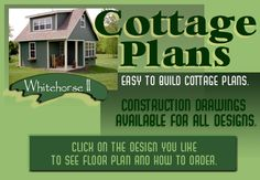 Easy to Build Cottage plans at SmallShelters.com