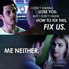 """S3 Ep6 """"The Gremlin and the Fixer"""" - #Camsten, you're breaking our hearts.  #Stitchers"""