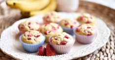 Protein Treats By Nicolette : Strawberry Banana Protein Muffins