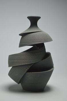 Michael Boroniec - Space Spiral: Venus Michael Boroniec Abstract Sculpture: Spiral of Space: Venus 2019 Sculptures Céramiques, Sculpture Clay, Ceramic Sculptures, Porcelain Ceramics, Ceramic Art, Fine Porcelain, Vases, Pots, Advanced Ceramics