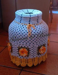 Crochet Capas, Diy Nightstand, Jewelry Case, Handicraft, Decorative Items, Diy Design, Easy Crafts, Crochet Projects, Crochet Patterns