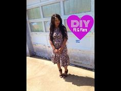 ▶ DIY: Fit & Flare (Trumpet Dress) - YouTube