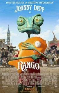 Brilliant, cute, funny. Child tested. They love it. Good entertainment for grown-ups too. The new Johnny Depp movie. - Rango is an ordinary chameleon who accidentally winds up in the town of Dirt, a lawless outpost in the Wild West in desperate need of a new sheriff.