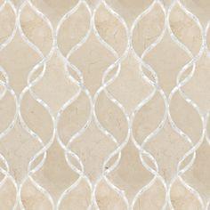 Artistic Tile | Crema Marfill Claridges Stone & Shell Water Jet Mosaic | Claridges Collection
