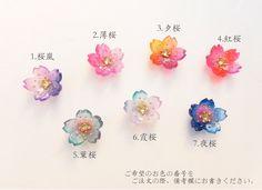七色桜 きらりクリスタル ピアス/イヤリング