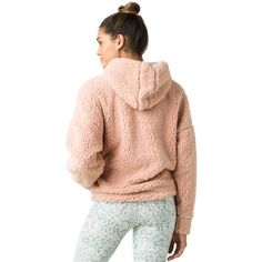 The prAna Permafrost Half Zip is cut from recycled polyester. The half zip pullover hoodie offers a relaxed fit and features dropped shoulder seams, an elasticized bottom opening, and front princess seams with on seam pockets. Teddy Bear Clothes, Faux Shearling Jacket, Half Zip Pullover, Sweater Outfits, Everyday Outfits, Lounge Wear, Jackets For Women, Body Heat, Outfit Ideas
