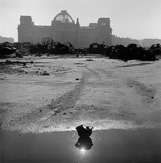 Werner Bischof. A German stahlhelm laying in front of the ruins of the Reichstag, Berlin, 1946 [::SemAp FB || SemAp::]