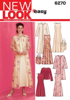 Misses Dress, Jacket and Bag New Look Sewing Pattern No. 6270