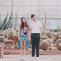"""""""คอมันเคล็ด"""" lovely Tai couple @abchutai x @pimtha Relationship goal! ❤❤❤"""