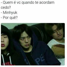 Read 65 ♡ from the story K Meme, Kpop Memes, Comedy Memes, Hyungwon, Minhyuk, Bts Meme Faces, Bts Imagine, Bts And Exo, Love Memes